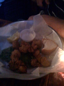 fried alligator